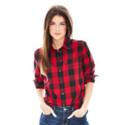 Joe Fresh™ Long-Sleeve Plaid Button-Front Shirt