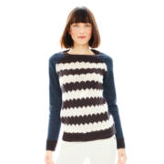 Joe Fresh™ Long-Sleeve Chevron Sweater