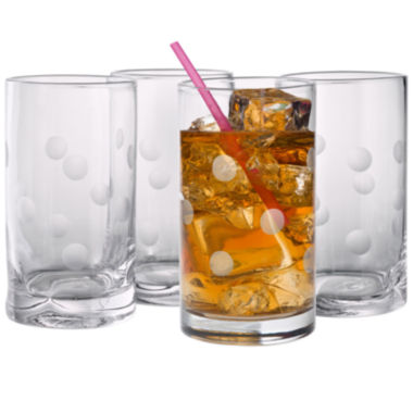 jcpenney.com | Polka Dot Set of 4 Highball Glasses