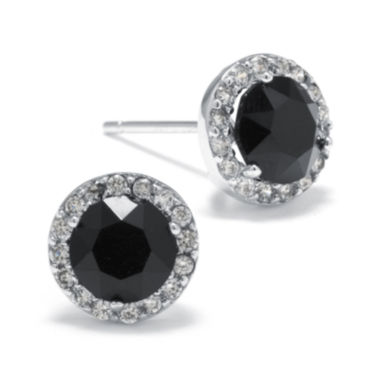 jcpenney.com | Black Crystal and Cubic Zirconia Halo Stud Earrings