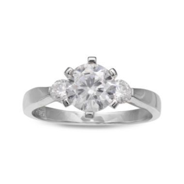 jcpenney.com | Cubic Zirconia Sterling Silver Engagement Ring