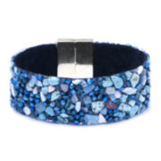 Dazzling Designs™ Crystal and Simulated Turquoise Chip Bracelet