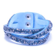 Dazzling Designs™ Multi-Blue Crystal Braided Bracelet