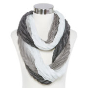 Crinkle Ombré Metallic-Accent Infinity Scarf