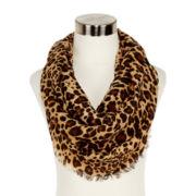 Cheetah-Print Infinity Scarf