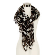 Animal-Print Oblong Scarf