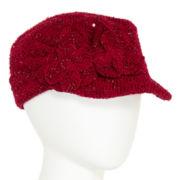 Sparkle Double-Flower Military Cap