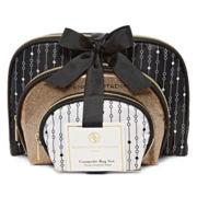 Adrienne Vittadini Studio 3-pc. Cosmetic Bag Set