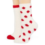 Mixit™ Womens 2-pk. Cozy Crew Socks
