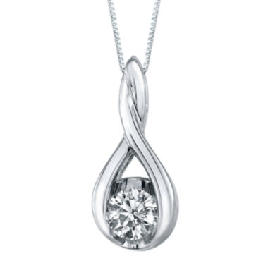 jcpenney.com | Sirena® 1/5 CT. Diamond Solitaire 14K White Gold Pendant Necklace