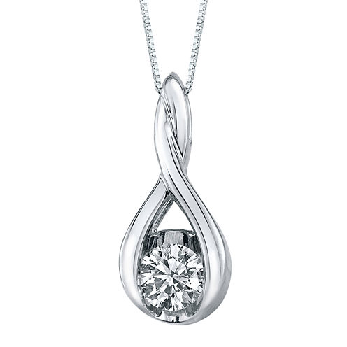 Sirena® 1/5 CT. Diamond Solitaire 14K White Gold Pendant Necklace