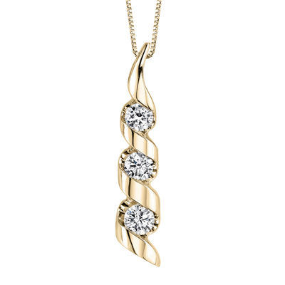 Sirena 12 ct tw diamond 14k yellow gold 3 stone pendant sirena 12 ct tw diamond 14k yellow gold 3 stone pendant mozeypictures Image collections