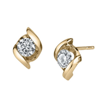 jcpenney.com | Sirena® 1/3 CT. T.W. Round Diamond 14K Yellow Gold Earrings