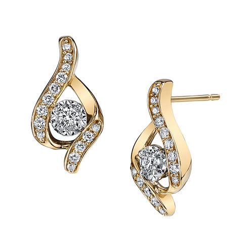 Sirena® 1/3 CT. T.W. Diamond 14K Yellow Gold Earrings