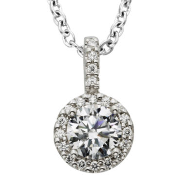 jcpenney.com | Diamonore™ 1 CT. T.W. Simulated Diamond Halo Pendant Necklace