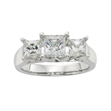 jcpenney.com | Diamonore™ 1¾ CT. T.W. Simulated Diamond Princess-Cut 3-Stone Ring