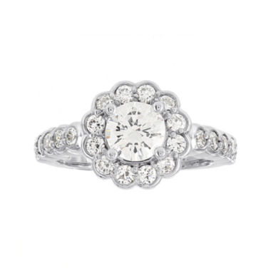 jcpenney.com | Diamonore™ 1¾ CT. T.W. Simulated Diamond Round Flower-Shaped Ring