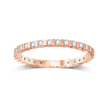 jcpenney.com | 1/2 CT. T.W. Diamond 14K Rose Gold Eternity Band
