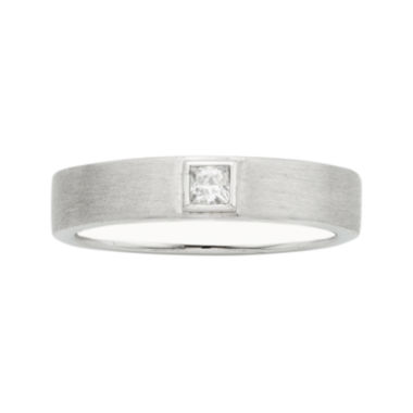 jcpenney.com | IN Love 1/10 CT. T.W. Diamond 14K White Gold Princess-Cut Wedding Band
