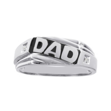 jcpenney.com | Mens Diamond-Accent 10K White Gold Dad Ring