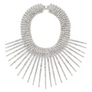 Natasha Crystal Silver-Tone Spike Necklace