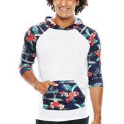 Eighty Eight Raglan-Sleeve Pullover Hoodie
