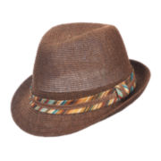 St. John's Bay® Stripe-Band Toyo Fedora
