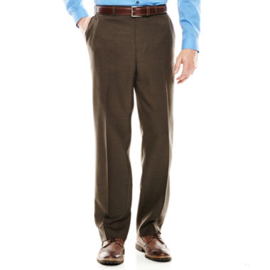 jcpenney.com | IZOD® Brown Flat-Front Dress Pants - Classic Fit