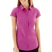 Worthington® Short-Sleeve Button-Front Shirt