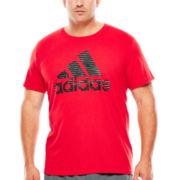 adidas® Illuminated Logo Tee - Big & Tall
