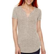 a.n.a® Short-Sleeve Textured Knit T-Shirt - Tall