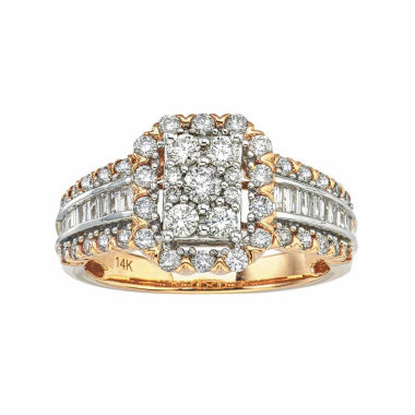 jcpenney.com | Diamond Blossom Womens 1 CT. T.W. Round White Diamond 14K Gold Engagement Ring