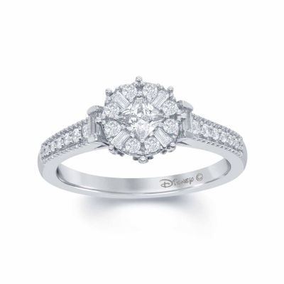 enchanted disney fine jewelry 1 2 c t t w diamond 10k