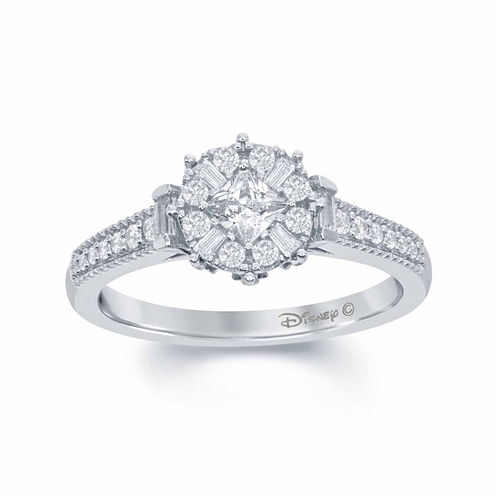 enchanted by disney 12 ct tw diamond 10k white gold frozen snowflake ring - Jcpenney Jewelry Wedding Rings