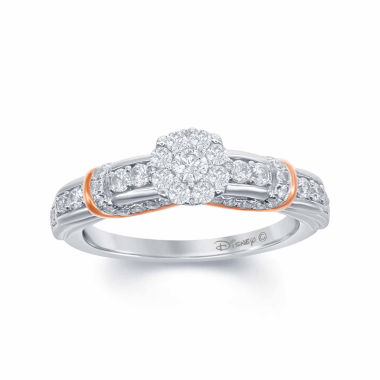 "jcpenney.com | Enchanted by Disney 5/8 C.T. T.W. Diamond 14K White Gold ""Disney Princess"" Layered Gown Ring"