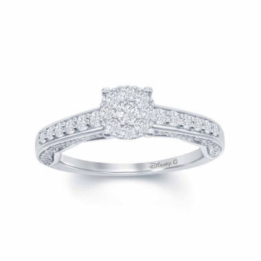 "jcpenney.com | Enchanted by Disney 3/4 C.T. T.W. Diamond 14K White Gold ""Disney Princess"" Gown Outline Ring"