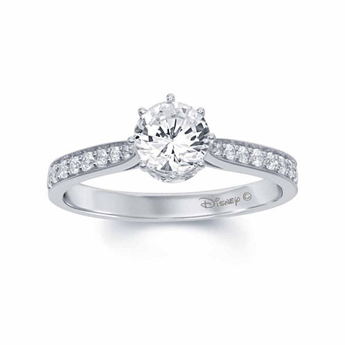 "Enchanted by Disney 1 C.T. T.W. Diamond 14K White Gold ""Disney Princess"" Tiara Ring"