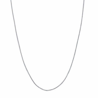 "jcpenney.com | 10K White Gold Polished 038 18"" Box Chain Necklace"