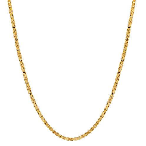 """14K Yellow Gold 1.15mm 20"""" Twisted Box Chain Necklace"""