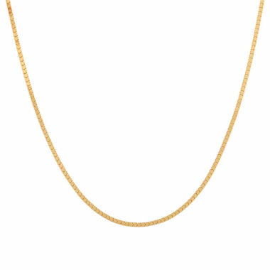 "jcpenney.com | 14K Yellow Gold Polished Mirror Milano 20"" Box  Chain Necklace"
