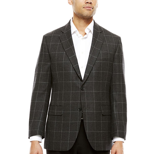 Stafford®  Merino Wool Sport Coat - Slim Fit
