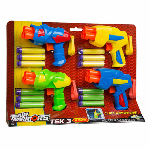 Buzz Bee Toys Air Warriors Tek 3 (Four Pack) 16-pc. Toy Playset
