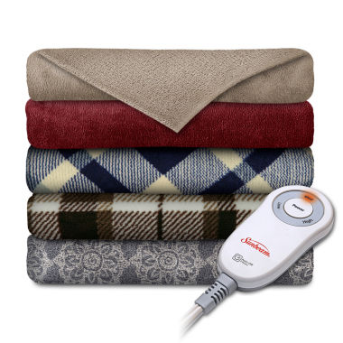 jcpenney.com | Slumberrest Comfy Toes Microplush Heated Throw