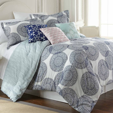 jcpenney.com | Selena Cotton Reversible 6-pc. Comforter Set