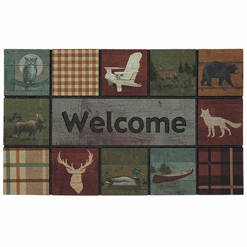 "Mohawk Home® Lodge Squares Rectangular Doormat 18""X30"""