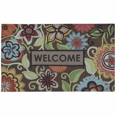"jcpenney.com | Mohawk Home® Floral Youth Rectangular Doormat - 18""X30"""