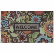 "Mohawk Home® Floral Youth Rectangular Doormat - 18""X30"""