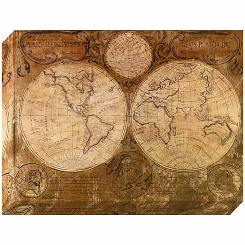 Pinnacle Vintage Map Canvas Art