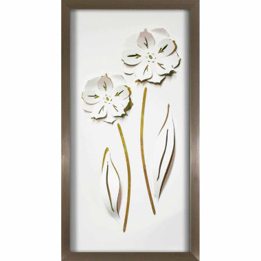 jcpenney.com | Pinnacle Long Flower Duo Pop Of Color Framed Art
