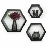 Gallery Solutions Wall Hexagon Ledges